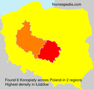Surname Konopiaty in Poland