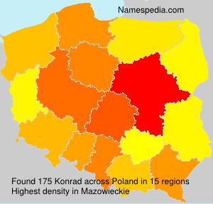 Surname Konrad in Poland