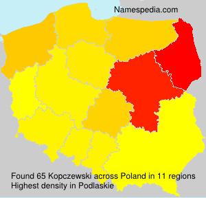 Familiennamen Kopczewski - Poland