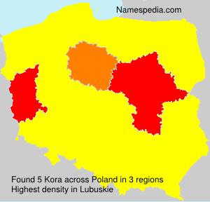 Surname Kora in Poland
