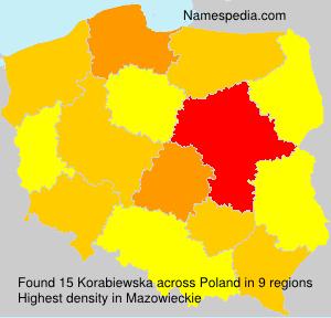 Familiennamen Korabiewska - Poland