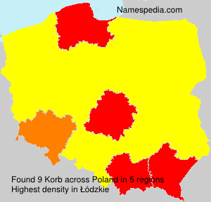Surname Korb in Poland