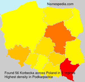 Familiennamen Korbecka - Poland