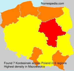 Surname Kordasinski in Poland