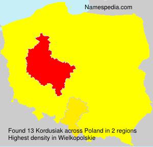 Surname Kordusiak in Poland