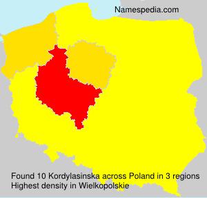 Surname Kordylasinska in Poland