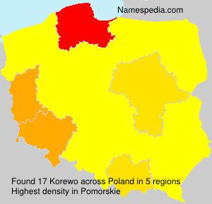 Surname Korewo in Poland