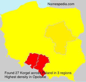 Surname Korgel in Poland