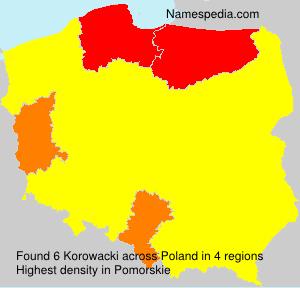 Surname Korowacki in Poland