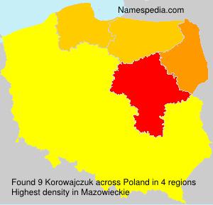 Surname Korowajczuk in Poland