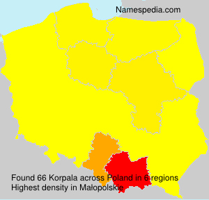 Surname Korpala in Poland