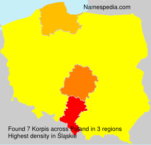 Surname Korpis in Poland