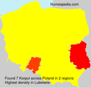 Surname Korpul in Poland