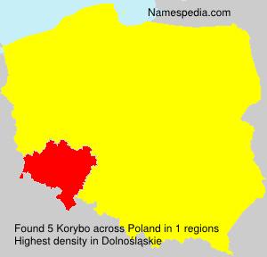 Surname Korybo in Poland