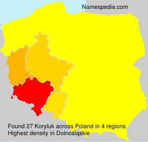 Surname Koryluk in Poland