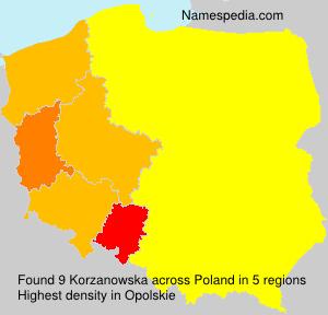 Surname Korzanowska in Poland