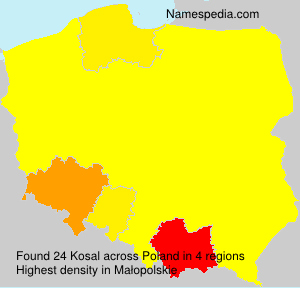 Surname Kosal in Poland