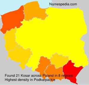 Surname Kosar in Poland