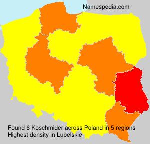 Surname Koschmider in Poland