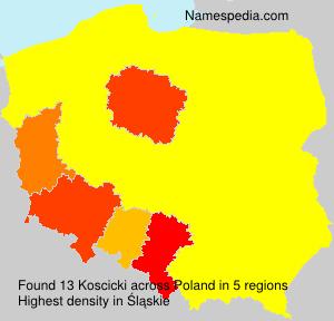 Familiennamen Koscicki - Poland