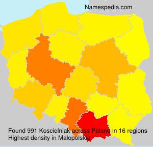 Surname Koscielniak in Poland