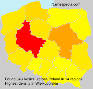 Surname Kosicki in Poland