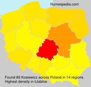 Surname Kosiewicz in Poland