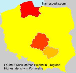 Surname Koski in Poland