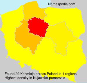 Surname Kosmieja in Poland