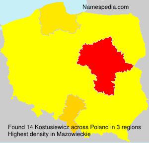 Surname Kostusiewicz in Poland