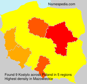 Surname Kostylo in Poland