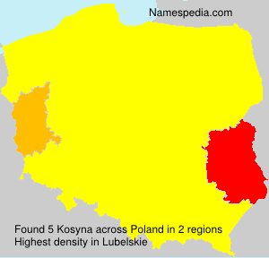 Surname Kosyna in Poland