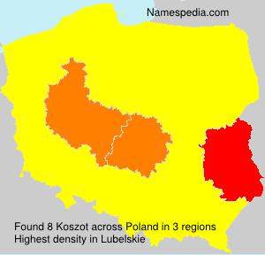 Familiennamen Koszot - Poland