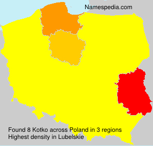 Surname Kotko in Poland