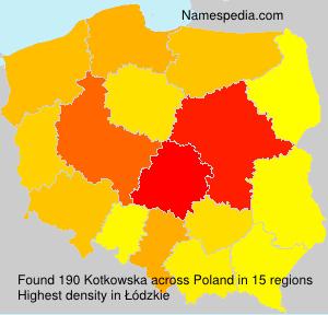 Surname Kotkowska in Poland