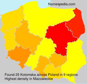Surname Kotomska in Poland