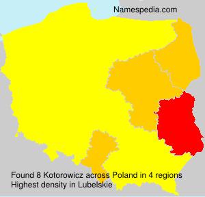 Surname Kotorowicz in Poland