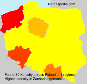 Surname Kotschy in Poland