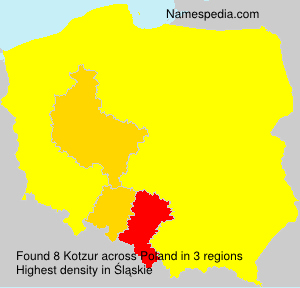 Surname Kotzur in Poland