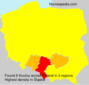 Surname Koutny in Poland