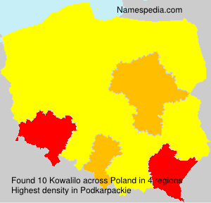 Familiennamen Kowalilo - Poland