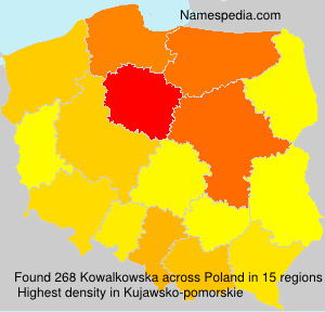 Surname Kowalkowska in Poland
