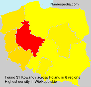 Surname Kowandy in Poland