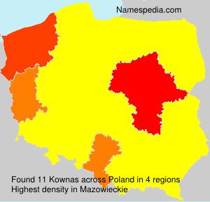 Surname Kownas in Poland