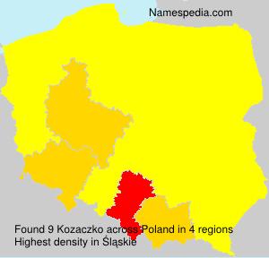 Surname Kozaczko in Poland