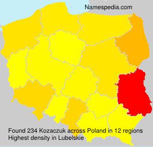 Familiennamen Kozaczuk - Poland