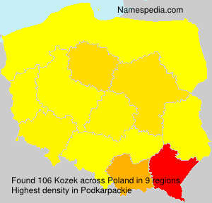Surname Kozek in Poland