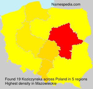 Surname Koziczynska in Poland