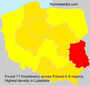 Surname Kozielewicz in Poland
