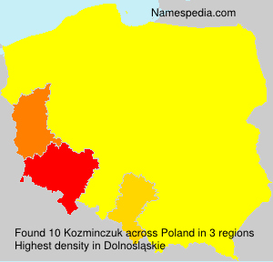 Surname Kozminczuk in Poland